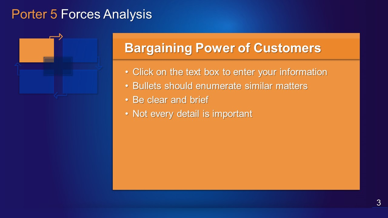 Porter 5 forces analysis powerpoint template slide in a box for Porter 5 forces critique