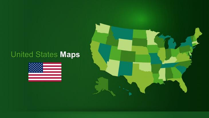 Usa Maps Powerpoint Template Slide In A Box