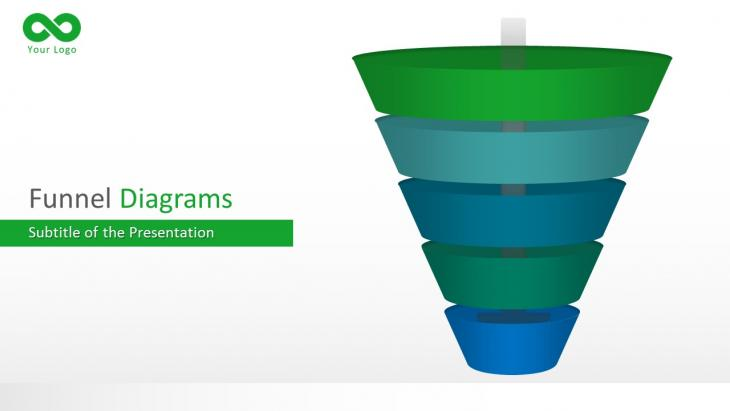 Funnel Diagrams 3D PowerPoint Template   Slide in a Box