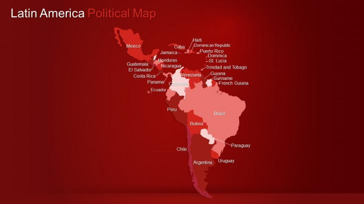LATIN AMERICA Maps PowerPoint Template | Slide in a Box