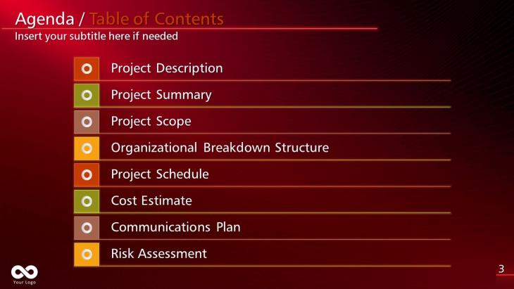 Project Management Plan PowerPoint Template   Slide in a Box