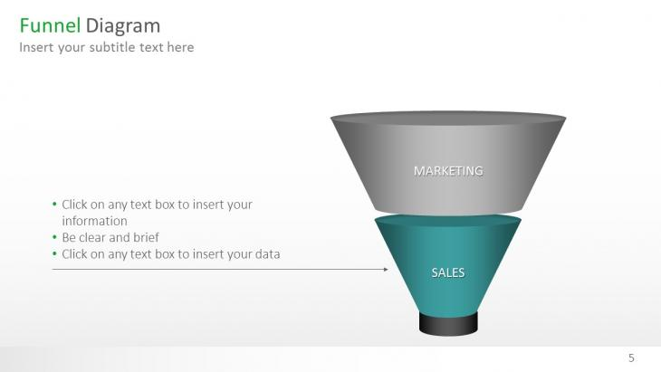 funnel diagrams 3d powerpoint template | slide in a box, Modern powerpoint