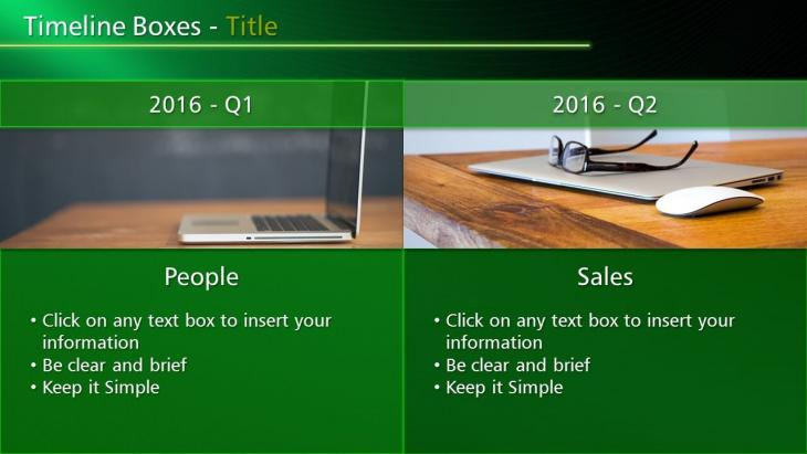PowerPoint Timeline Boxes