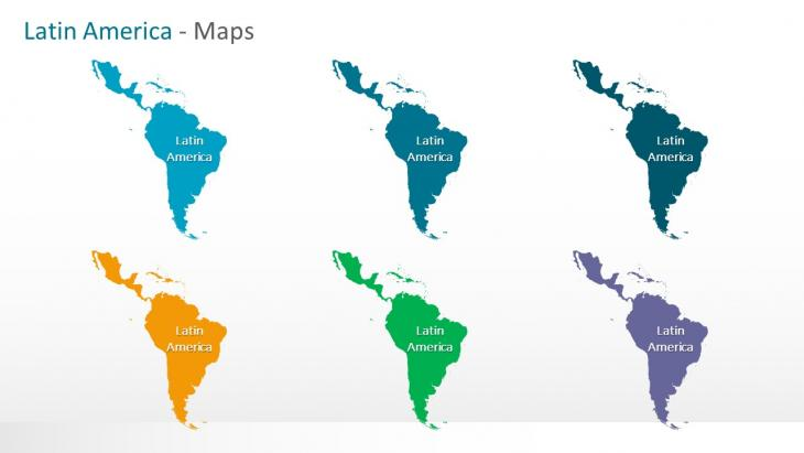 latin america maps powerpoint template slide in a box