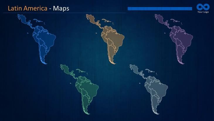 Latin america maps powerpoint template slide in a box latin america map slide toneelgroepblik Image collections